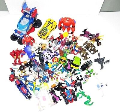Junk Drawer Mixed Lot of Action figures and Toy Cars Pre owned