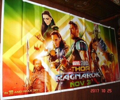 Thor: Ragnarok (2017) Giant Original 6 Six Sheet Poster 52 X 106 Chris Hemsworth