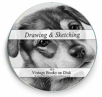 Rare Books on DVD Sketching Drawing Pencil Pen Charcoal Chalk Learn Art Brush C3