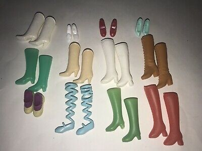 BARBIE Clone Mattel Vintage Modern LOT of 12 Pairs Boots Shoes Ballet Slippers