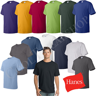 Hanes Comfortsoft Men Crewneck Short Sleeves Plain Cotton T-Shirt O5280 (4-pack)