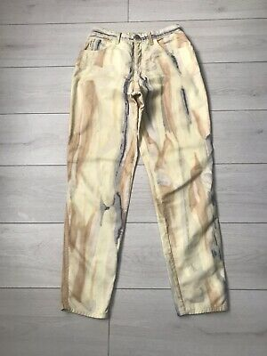 Giorgio Armani Jeans Vintage 90s Cotton Pastel Straight Mom Trousers Size 29