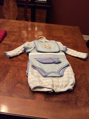 First Impressions Baby Boys 0-3 Months 6 Pc Layette Set.