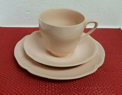 Vintage Johnson Bros Gainsborough Pink  Cup Saucer Plate Trio.