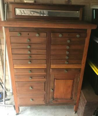 Antique 1800'S Specimen Filing Cabinet Industrial By J A Woods ..Mosman Nsw $999