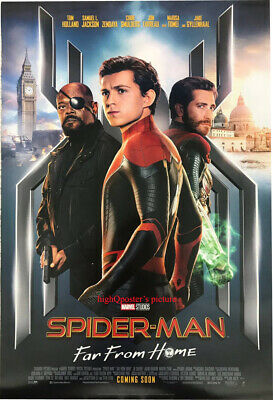 ORIGINAL Spider-Man Far from Home DS 27x40 POSTER Tom Holland Jake Gyllenhaal