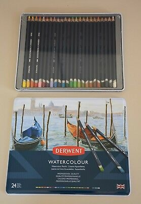 Derwent Watercolour Pencils, Set of 24, Professional Quality Multicolour **SALE*