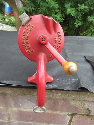 Spong Bean Slicer 633 Dual Feed String Cutter Large/Small Clamp Base Vtg