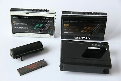 Sony Walkman WM-F501 & WM-F502 Refurbished & working with Case and Battery Pack