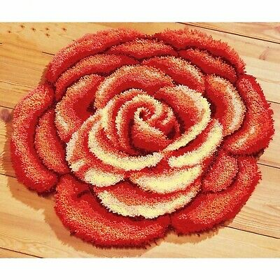 Floral Peony Flower Latch Hook Rug Kit, Brand New
