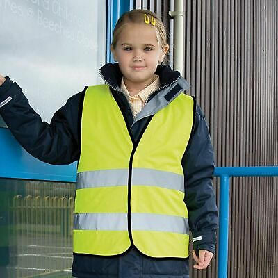 Result Core Children kids junior High Vis safety Fluorescent Yellow vest R200J