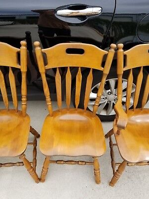 (1) Vtg S Bent Colonial Side Dining Chair Model 973 751 (Rare Style)