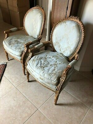 Matching Hand Carved Antique Chairs