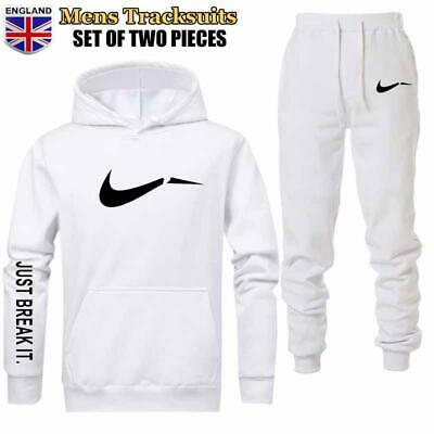Mens Tracksuit Sweatshirt Pants Sports Suit Sweater Pullover Jogging Hooded Suit