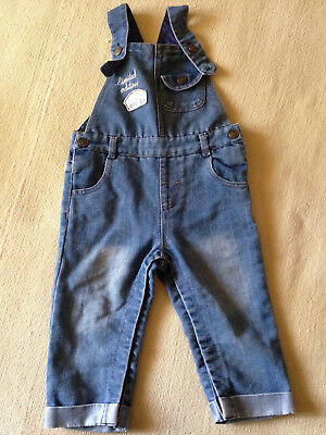 baby jeans overall pinafore jeans, 12-18 months, up to 12 kg