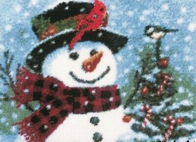 DIY Cute Snowman Make your own Rug Latch Hook Craft Christmas Xmas unique gift