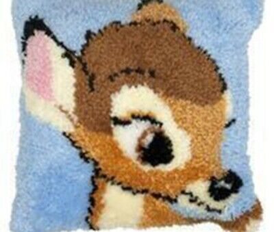 DIY Cute Disney Bambi Make your own Latch Hook Pillow Cushion cover unique gift