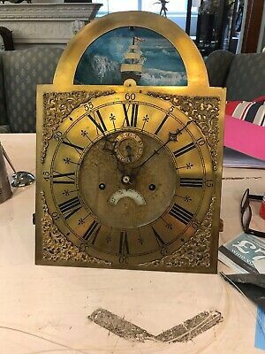A Longcase grandfather clock Brass Dial and 8 Day Movement  Only Rocking  Ship