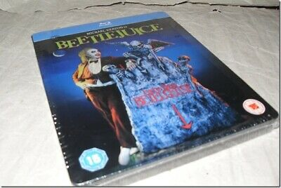BEETLEJUICE STEELBOOK blu-ray UK RELEASE NEW SEALED