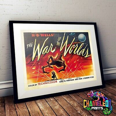 War Of The Worlds Movie Film Poster Print Picture A3 A4 Retro Poster