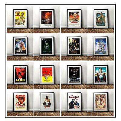 Classic Movie Posters A4 A3 Various Designs