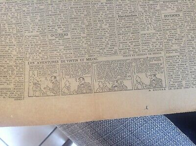 Rare ancien journal Le soir 1944 Strip Tintin BE