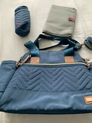 NEW SKIP HOP DUSK BLUE SATCHEL BABY MATERNITY NAPPY CHANGING BAG /& ACCESSORIES