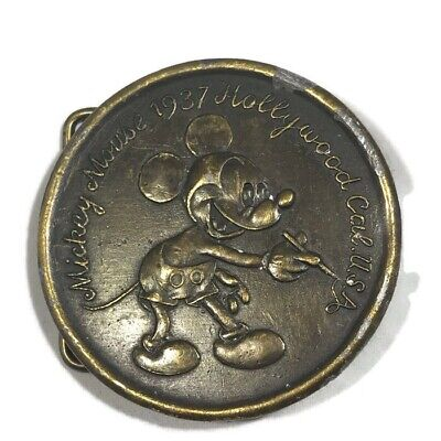 Vintage Tiffany & Co Mickey Mouse 1937 Hollywood Cal. U.S.A. Belt Buckle