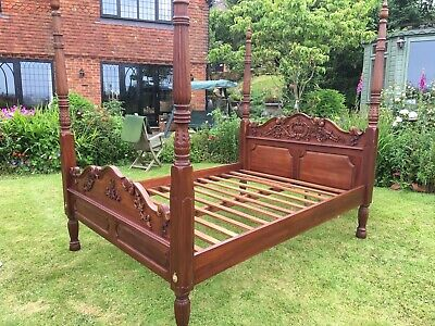 Magnificent King sized mahogany four poster bed.