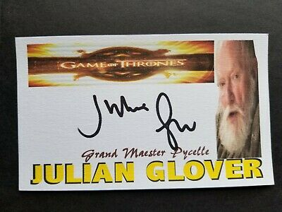 """GAME OF THRONES"" JULIAN GLOVER GRAND MAESTER PYCELLE Autographed 3x5 Index Card"
