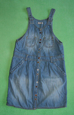 Next blue denim jeans pinafore dress for a girl age 10 years 140 cm