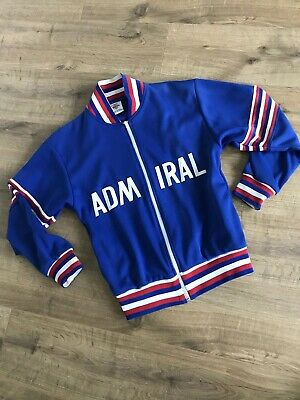 Admiral Toffs Vintage 1974 England Football Tracksuit Top Size Small