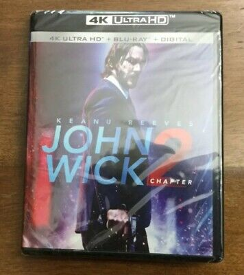 JOHN WICK Chapter 2 - 4K UHD .+ Blu-ray + Digital HD factory sealed BRAND NEW