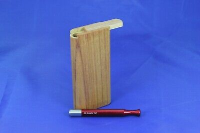 "4"" Dugout One Hitter Exotic Wood Slide Top With Red Shark Tip Bat"