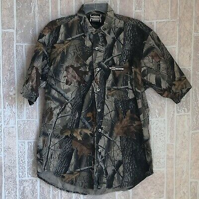 261173091e430 SUPREME WINCHESTER Men's Camo Hunting Shirt Realtree M Camouflage Button Up