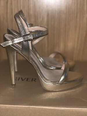 River Island Barley There Sandals Gold Size 6 Worn Well Used Work Dance