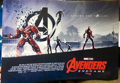 Avengers End Game Imax Promotional Limited Rare Imax Poster 15 1/2 X 11 Photo