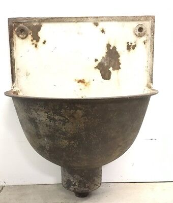 Antique French Cast Iron Lavabo Sink Garden Reclaimed Salvage Heavy Rare Htf #1