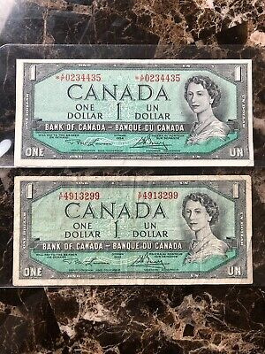 1954 Canadian Replacement Bank Note And Regular Note