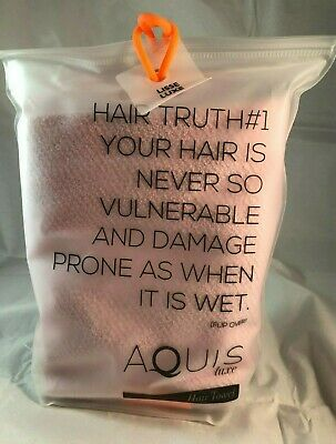 Aquis Essentials Hair Towel Lisse Luxe Pink NEW IN BAG