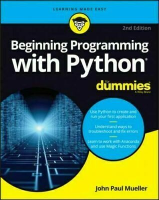 Beginning Programming With Python For Dummies - READ ITEM DESCRIPTION