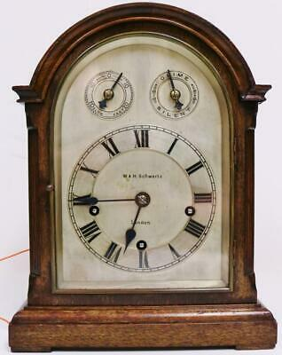 Antique Westminster Chime Musical Bracket Clock W&H 8 Day 5 Gong Mantel Clock