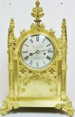 Antique English Cathedral 8Day Twin Fusee Bracket Clock Jefferies & Price Ormolu