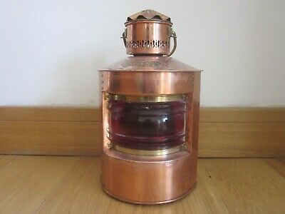 Re-production Marine Copper Lamp with Brass Fittings (mains- electric)
