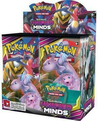 Pokemon Unified Minds Sun & Moon Booster Box Factory Sealed PRESALE