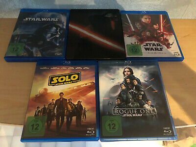 Star Wars Episode IV-VIII (Steelbox Episode 7) und Rogue 1 sowie Solo bluray