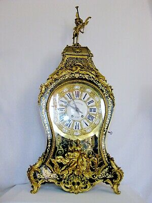 Superb antique Boulle bracket clock,early 19th century 138 cm, 54,33 inch