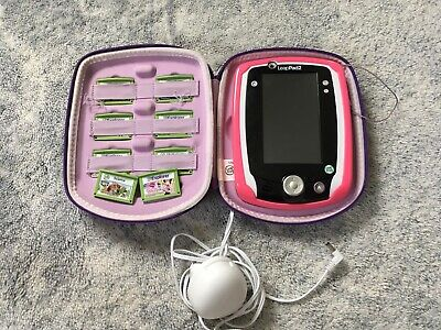 Purple LeapPad 2 With 8 Games And Carry Case
