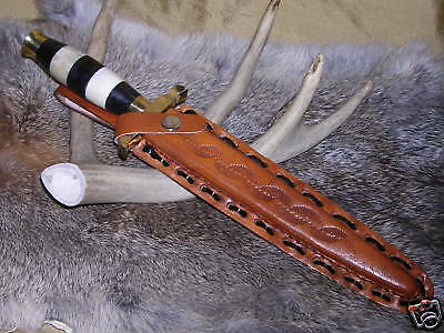 Ebony Ivory Medieval Dagger Boot Knife W/ Sheath Case Fixed Blade !