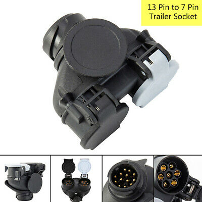 13pin To 7pin Double  Conversion Adapter Electric Towing Plug Trailer Socket